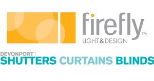 firefly and devonport shutters logo